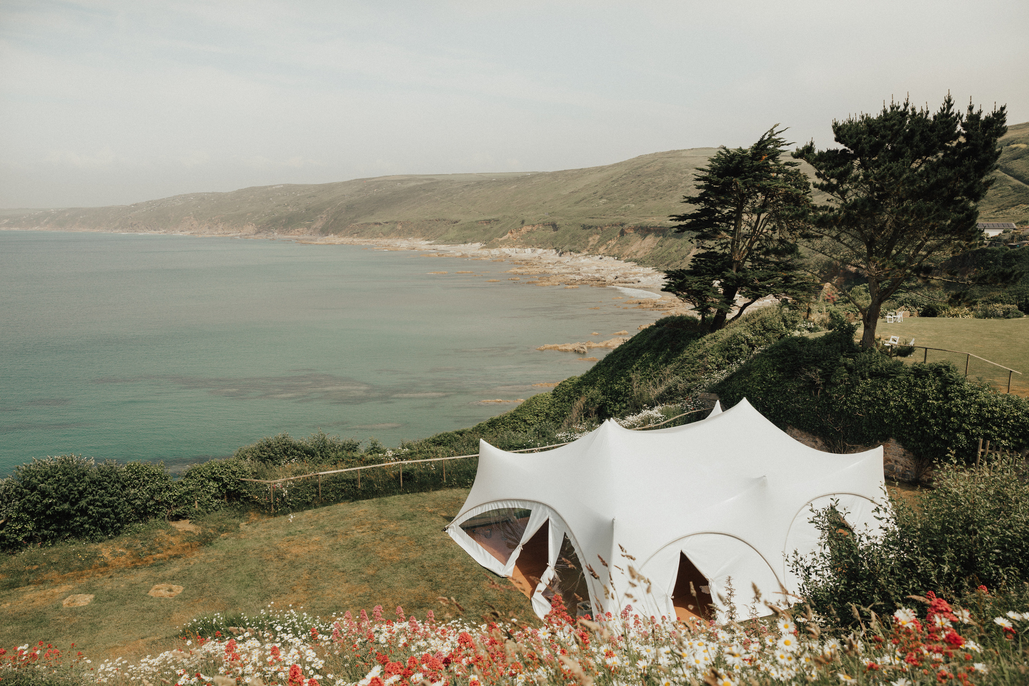 Real wedding at Polhawn Fort in Cornwall, near Plymouth