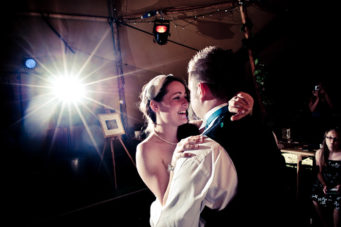 wedding couple dancing on the dance floor