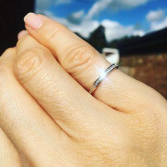 elegant wedding ring set with diamonds