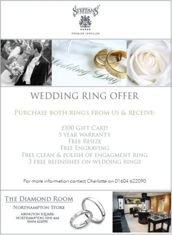 Steffans jewellers wedding ring promotion