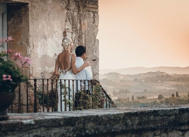 Steve Green Wedding Photography - wedding couple looking out to a view