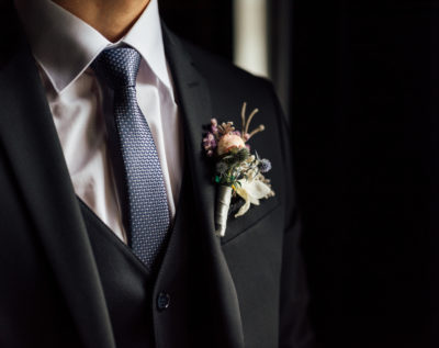 Groom in wedding suit