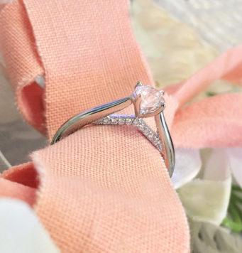 Stunning diamond solitaire engagement ring from Michael Jones Jewellers in Northampton and Banbury