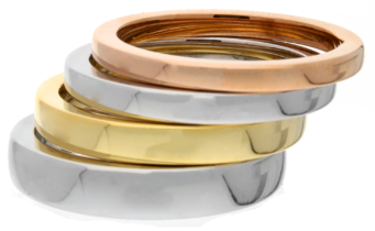 Gold and white gold wedding rings from Michael Jones Jewellers in Northampton and Banbury