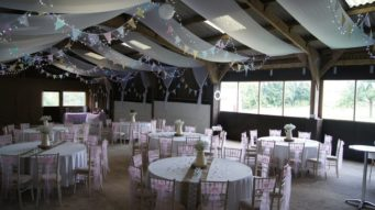 wedding venue decoration for a wedding breakfast