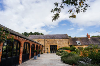 External photo of the Courtyard at Dodmoor House wedding venue