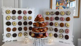 Doughnut Wall and doughnut tower for a wedding