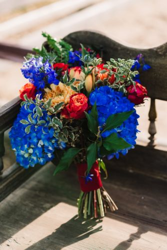 Bridal bouquet inspired by the Greatest Showman, photo by Gina Fernandes Photography