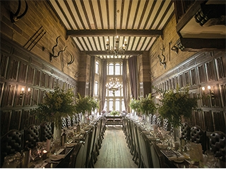 Stunning Great Hall at Highgate House wedding venue in Northamptonshire