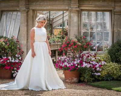 Natalya James white wedding dress