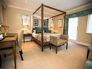 Luxury bridal suite at the Woodside hotel wedding venue