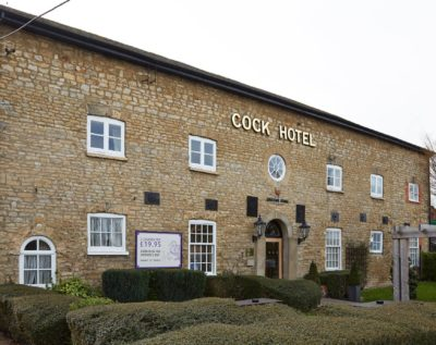 Entrance to the Cock Hotel Stony Stratford, wedding venue near Milton Keynes