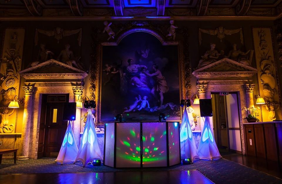 DJ set up for a wedding