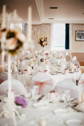 Wedding breakfast at The Falmouth Hotel, perfect Cornwall wedding venue