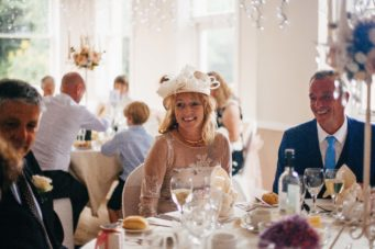Wedding guest at The Falmouth Hotel, perfect Cornwall wedding venue