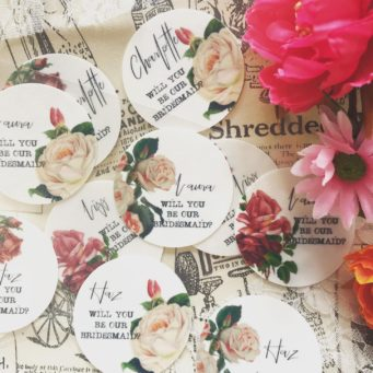 Will You Be My Bridesmaid hand painted discs