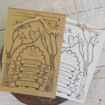 Sustainable wedding stationery using recycled paper