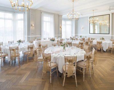 wedding room at Fowey Harbour Hotel