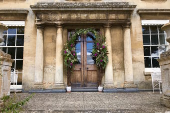 Doors decorated at Cranford Hall