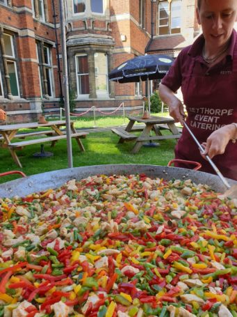 Wedding paella dish provided by Keythorpe Wedding & Event Catering in Leicestershire