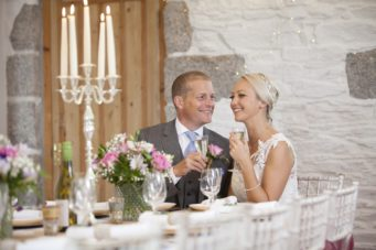 Elopement wedding at Tregoose Farmhouse in Cornwall
