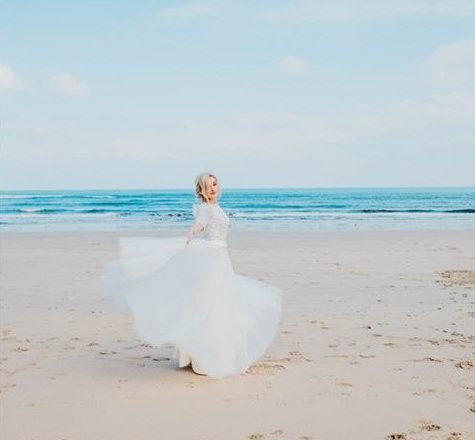 Wedding fair at Carbis Bay, St Ives in Cornwall