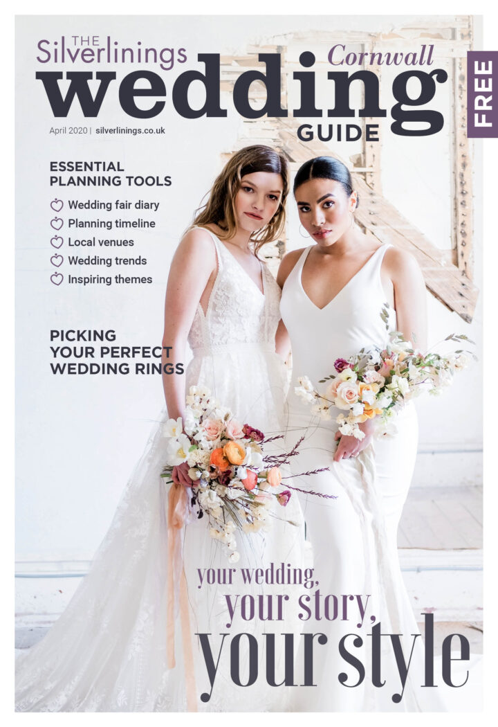 Front cover of the Silverlinings Cornwall Wedding Guide - Spring 2020
