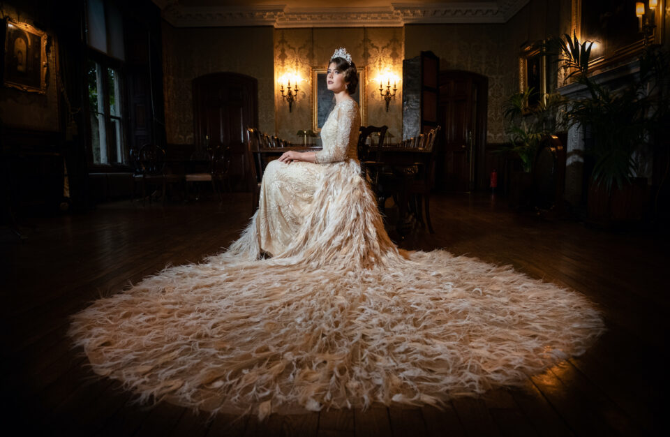 Downton Abbey themed wedding photo shoot at Holdenby House in Northamptonshire