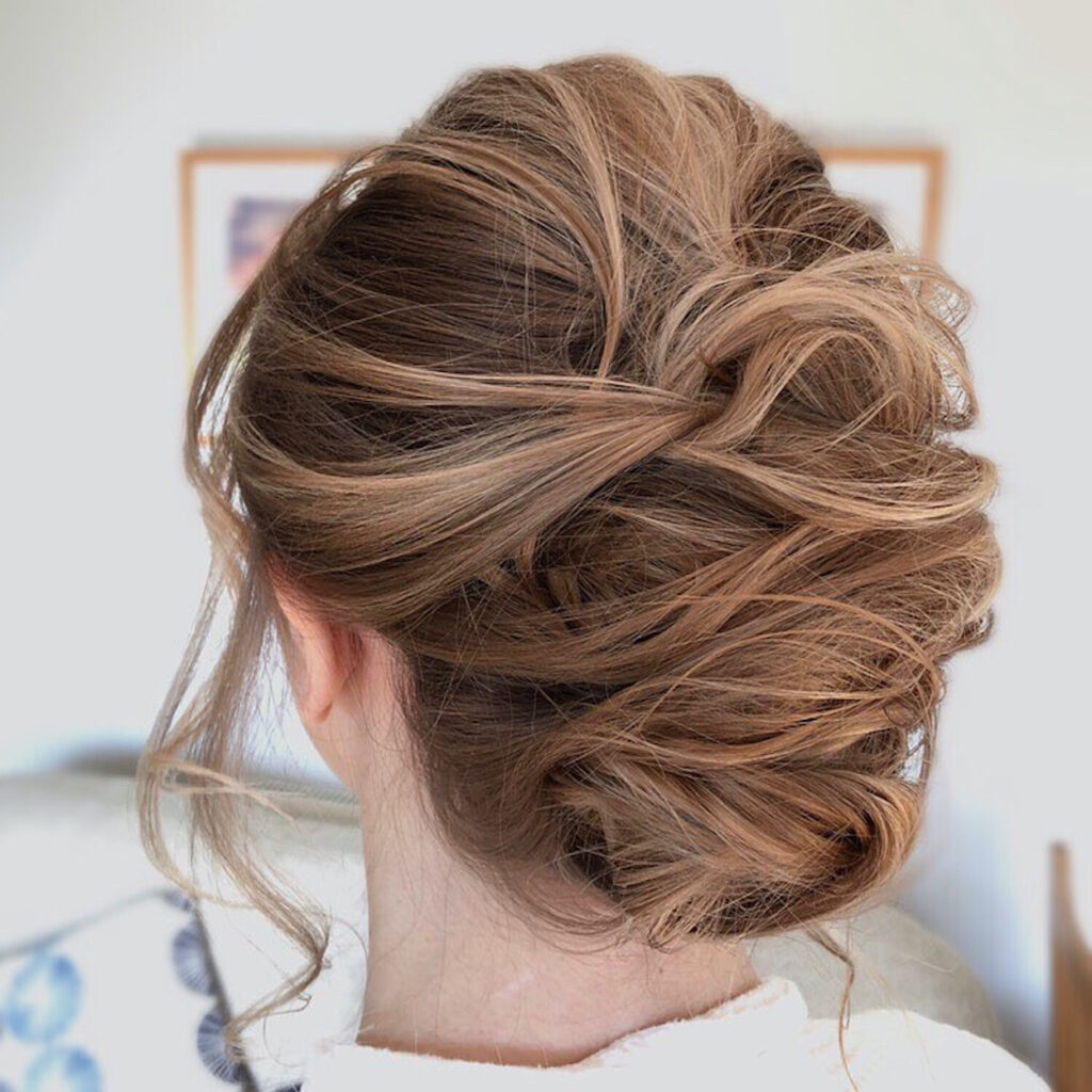 Anna from Anna Ingram Hairstylist, a Newquay in Cornwall based wedding hairstylist.