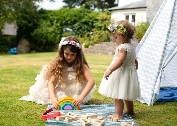Elsie from Cornwall Childcare running wedding childcare and wedding creches across Cornwall