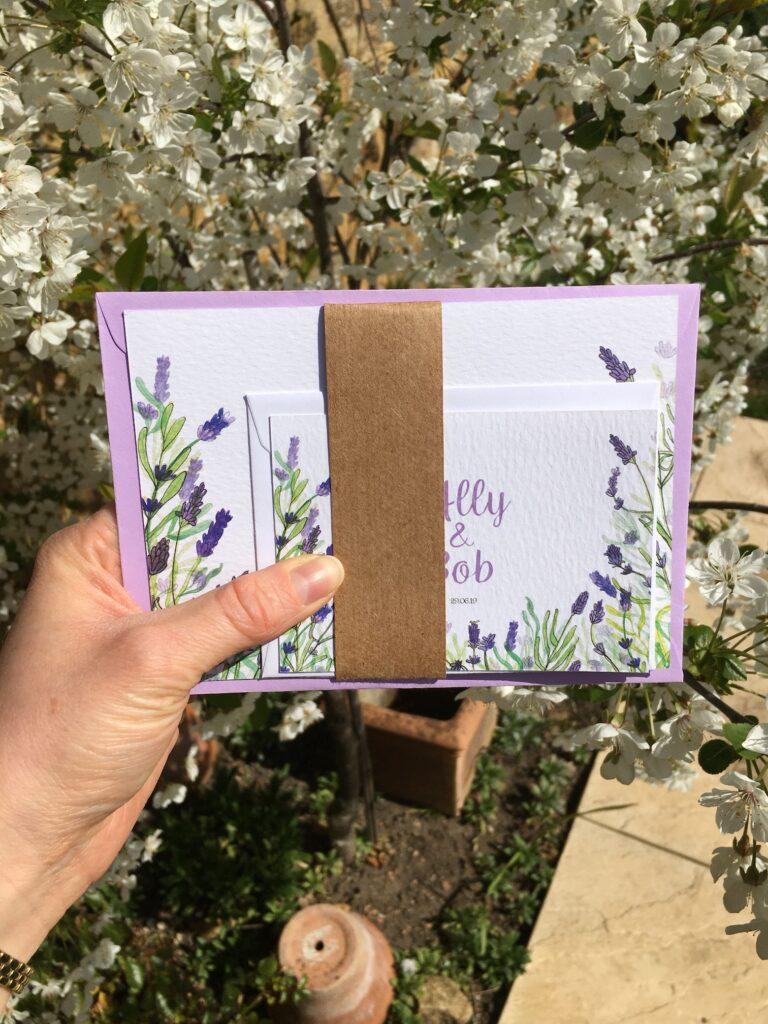 Half Pint Print, Northamptonshire based wedding stationer providing bespoke wedding invitation design