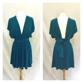 Teal bridesmaid dress, made to order from ThePrettyInfinity