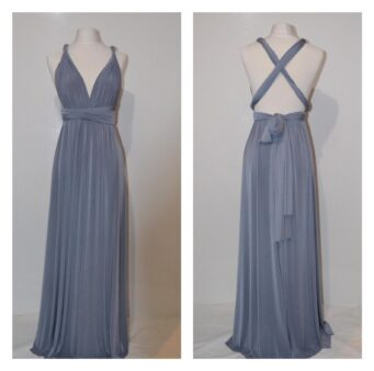 Grey bridesmaid dress, made to order from ThePrettyInfinity