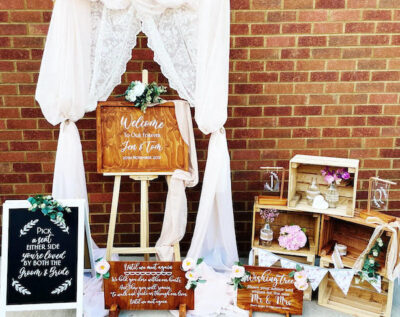 Little Bear Crafts supplies handmade, bespoke wedding décor & personalised wedding signs across Northamptonshire